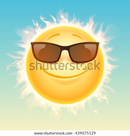 sun in sunglasses illustration