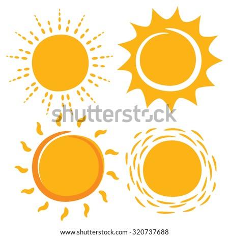 sun in various shape