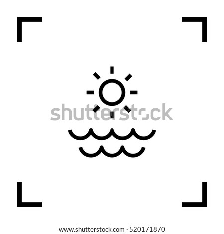 sun isolated minimal single