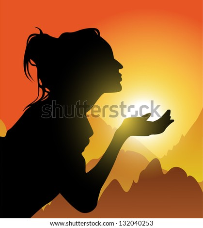 sun light highlands girl