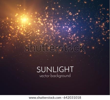 sun light star burst with