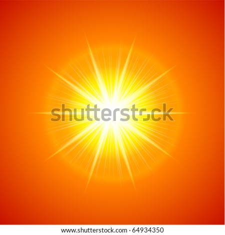 Sun light vector background - stock vector