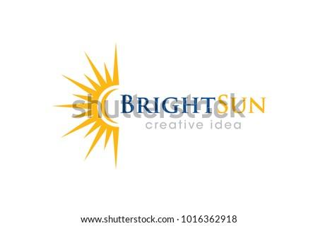 Sun Template | Abstract Sun Logo Template Design Shape Kostenlose Vektor Kunst