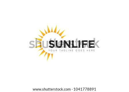 sun logo and icon vector design