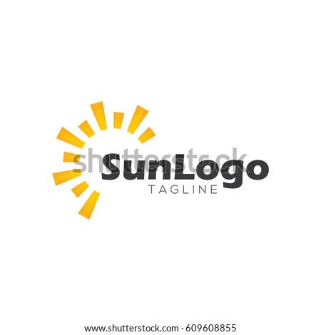 Sun logo design template