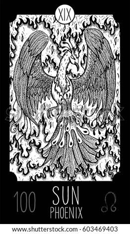 sun 19 major arcana tarot card