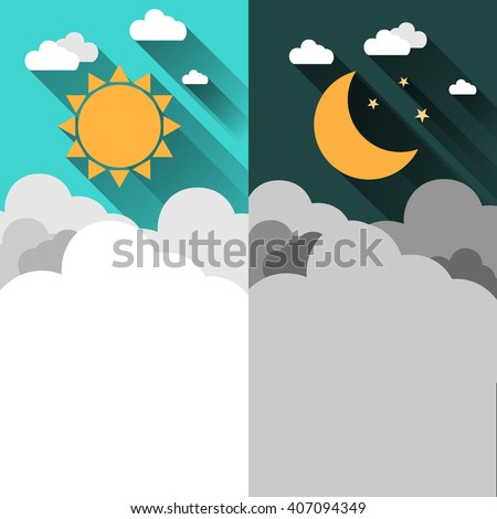sun  moon  stars and clouds