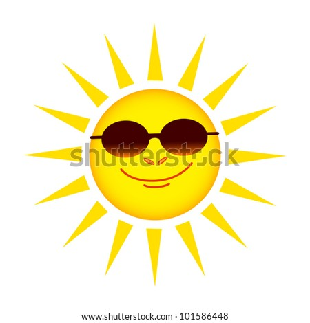 Sun on white background
