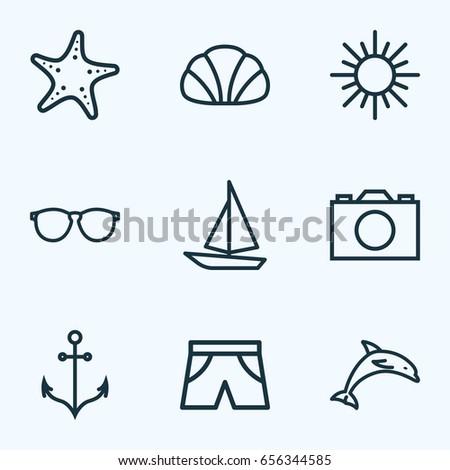 sun outline icons set