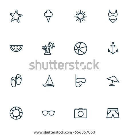 sun outline icons set