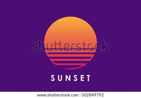 sun over the sea creative logo
