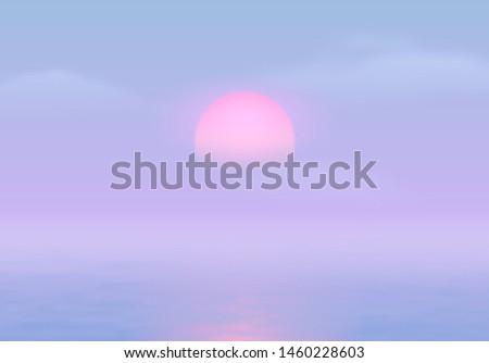 sun over the sea with sun road
