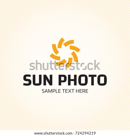 sun photo logo design template