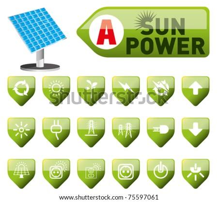 sun power and power button set