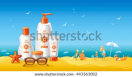 sun protection cosmetics set