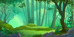 Sun rays falling deep into a thick jungle