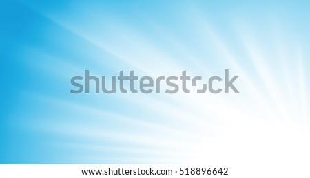 sun rays on blue sky vector