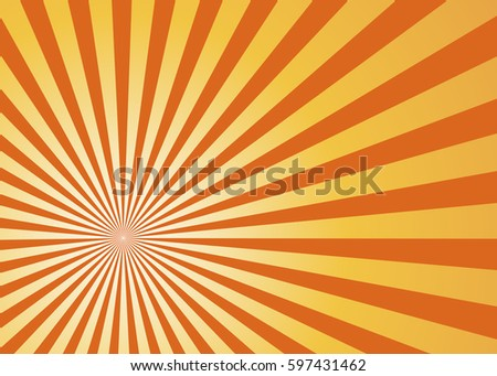 sun rays orange  vector