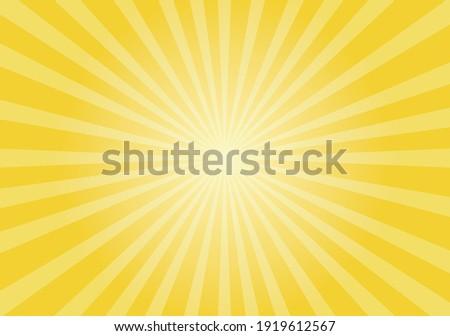 Sun rays Retro vintage style on yellow background,  Sunburst Pattern Background. Rays. Summer Banner Vector illustration
