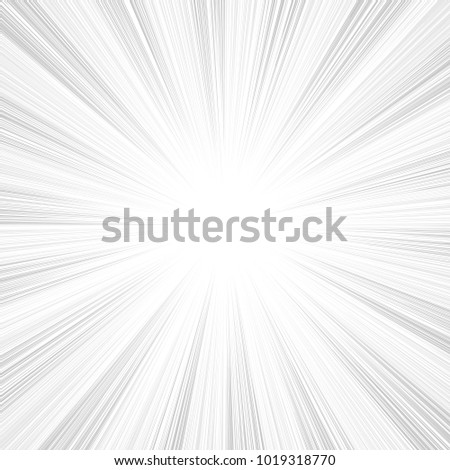 Sun rays, sunburst, light rays, sunbeam background abstract black and white. Comic book speed line radial background.