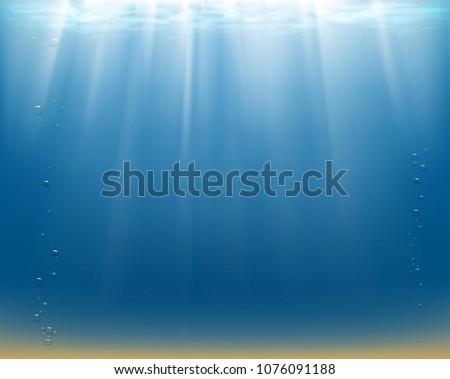 sun rays underwater water
