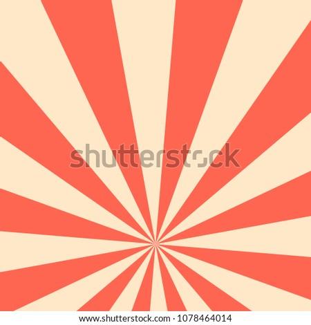 Sun rays vintage background, vector illustration.  Sun rays pattern. Vector background sun rays with retro color. Sun rays. Sunbeams background. Sunbeams Sunburst Pattern. Retro star vintage design