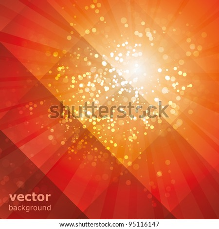 sun rays with bubbles vector