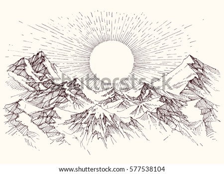 sun rise over the mountains