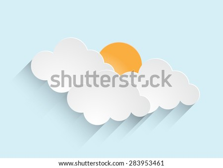 sun rising with clouds