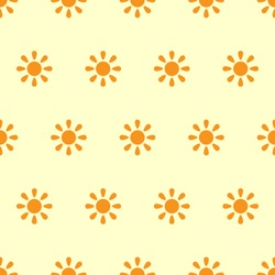 sun seamless pattern, vector background, summer theme