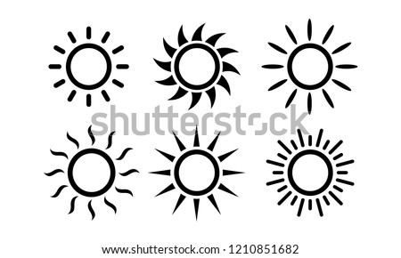 Sun Set icon symbol vector