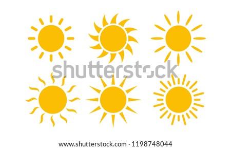 Sun Set icon vector