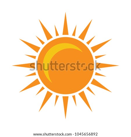 sun sign icon  vector sunlight