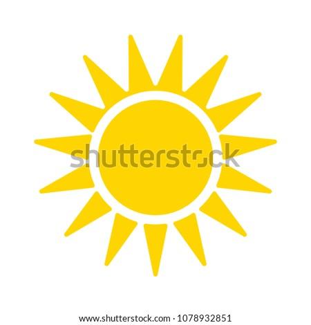 sun sign icon  vector sunlight