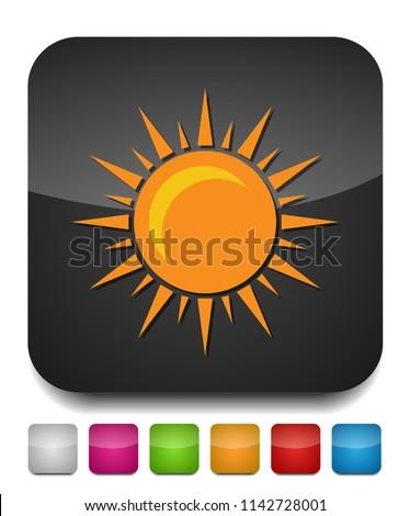 sun sign icon, vector sunlight, bright sunny