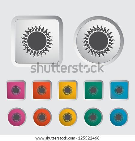 Sun single icon. Vector illustration.