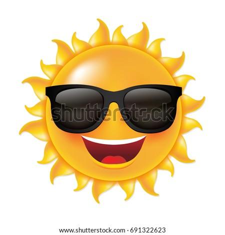 sun smile  with gradient mesh