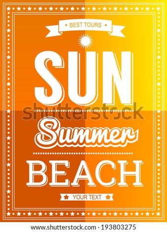 Sun Summer Beach poster template #193803275