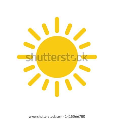 Sun Summer Icon Vector Design Illustration
