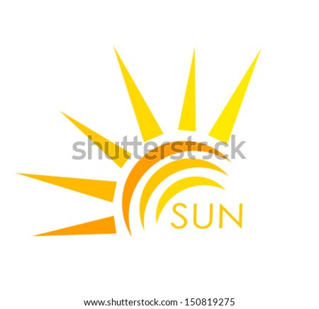 Sun symbol. Abstract vector illustration
