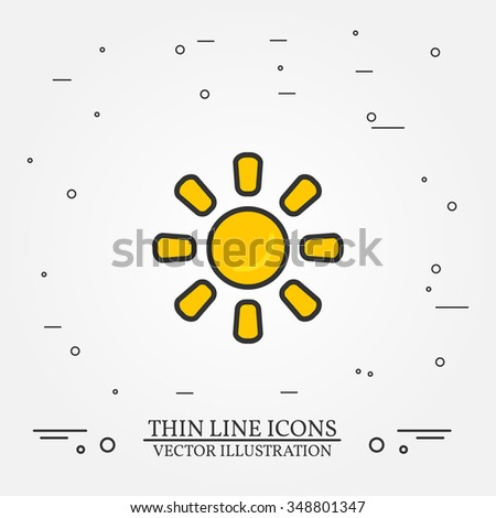 sun thin line design sun pen