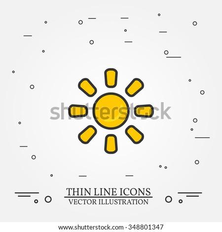 sun thin line design sun pen