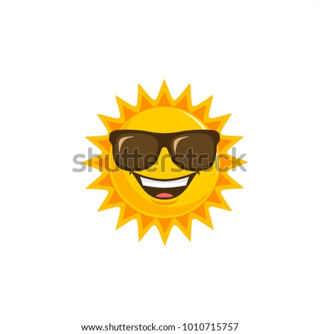 Sun vector cartoon