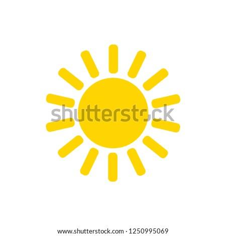 Sun vector icon.