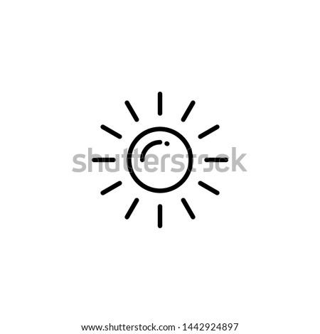 Sun vector icon. Sun icon. Sun Icon Graphic. Sun Icon Art. Sunshine summer morning graphic.
