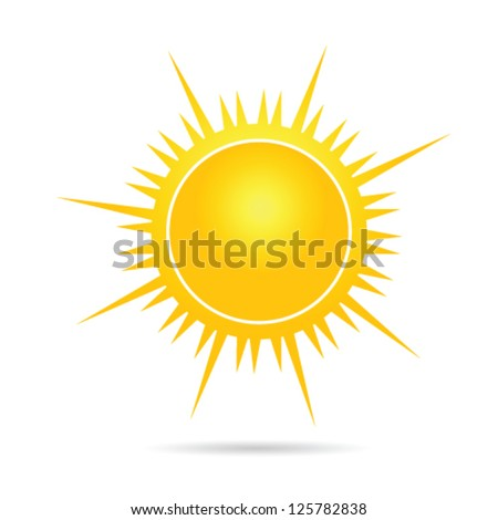 sun vector illustration in