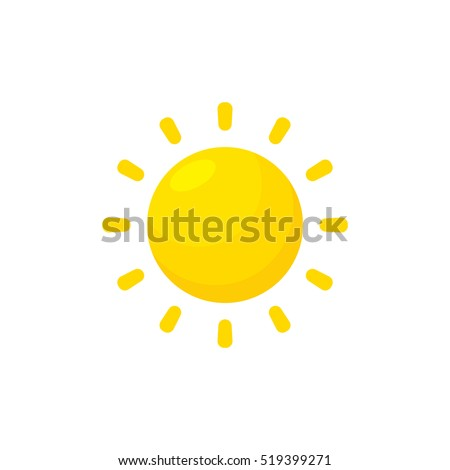 sun vector isolated