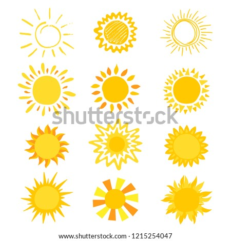 sun vector sunny icon with