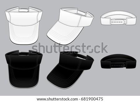 Shutterstock Sun visor hats template