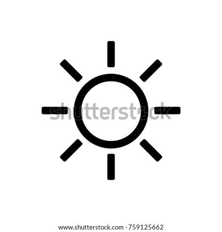 Sun Weather Icon. Vector.